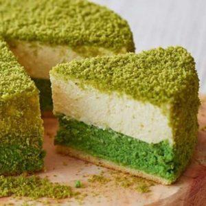 Bánh phô mai Nhật Bản vị trà xanh bổ dưỡng, đẹp sắc vóc