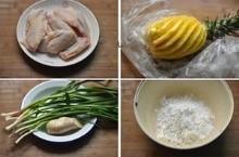 Nguyên liệu làm thịt gà chiên giòn sốt dứa